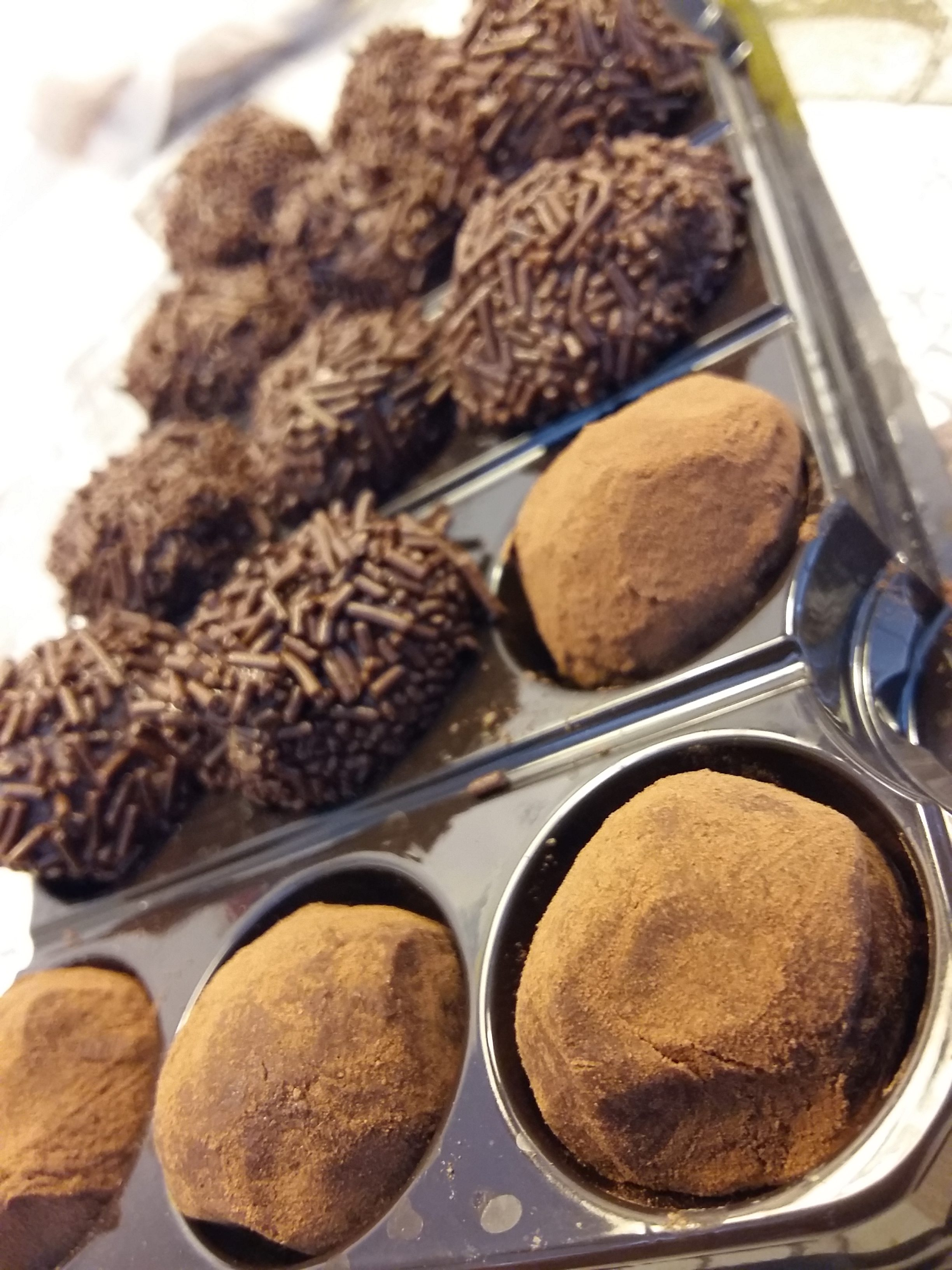 TRUFAS DE CHOCOLATE aromatizadas