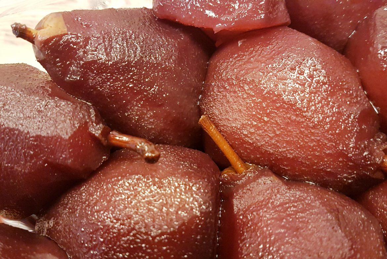 PERAS AL VINO (Crock Pot)