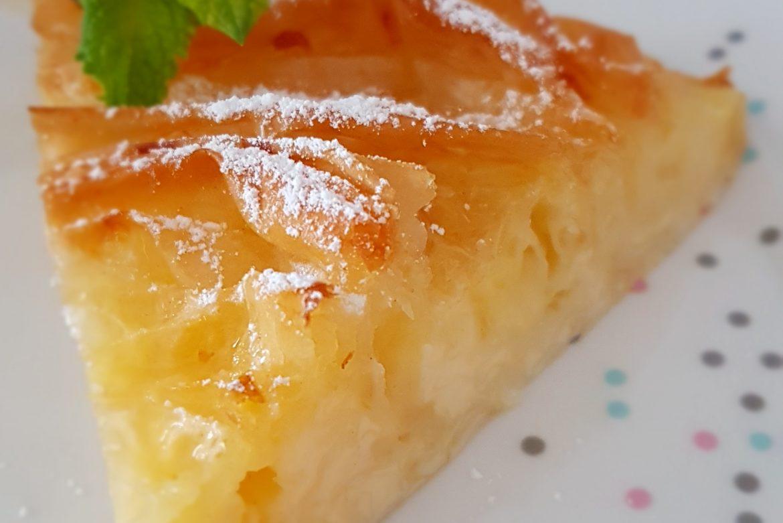 TARTA FLOR (Ruffle Milk Pie)